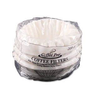 Basket Filters for Drip Coffeemakers, 10-12 Cup, White, 200 Filters (OGFCPF200)