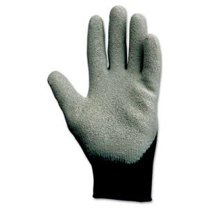 Kleenguard G40 Latex Coated Poly-Cotton Gloves, Large, Gray, 12 Pairs (KCC97272)
