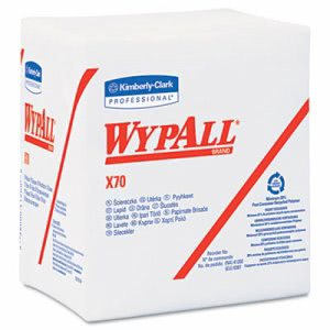 Wypall X70 Quarterfold Wipers, White, 912 Wipers (KCC41200)