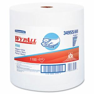 Wypall X60 Jumbo Roll Wipers, White, 1,100 Wipers (KCC34955)