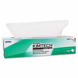 Kimtech 34256 Kimwipes XL Delicate Task Wipers, 140 Wipes (KCC34256BX)