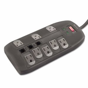 Innovera Surge Protector, 8 Outlets, 6ft Cord, Tel/DSL, 2160 Joules (IVR71656)