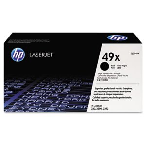 HP 49X, (Q5949X) High Yield Black Original LaserJet Toner Cartridge (HEWQ5949X)