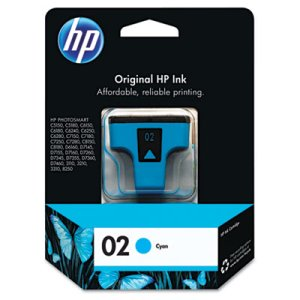 Hp C8771WN (HP 02) Ink Cartridge, 400 Page-Yield, Cyan (HEWC8771WN140)