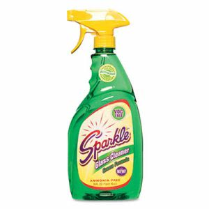 Sparkle Green Formula Glass Cleaner, 26 oz. Trigger Spray Bottle (FUN30126)