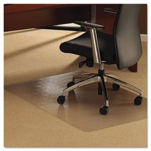 ClearTex Ultimat Chair Mat for Plush Pile Carpets, 48 x 53, Clear (FLR1113427ER)