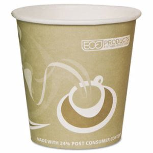 Evolution World 10-oz. Recycled Hot Cups, 1,000 Cups (ECP EP-BRHC10-EW)