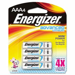 Energizer Advanced Lithium Batteries, AAA, 4/Pack (EVEEA92BP4)