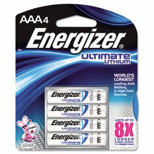 Energizer AAA Ultimate Lithium Batteries, 4 Batteries (ENE L92BP4)