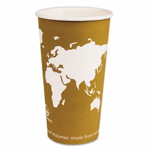World Art 20-oz. Compostable Hot Cup, 1,000 Cups (ECP EP-BHC20-WA)