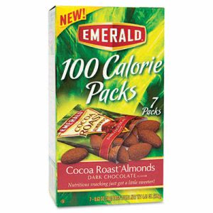 Emerald 100 Calorie Pack Dark Chocolate Cocoa Roast Almonds, 7 Packs (DFD84325)