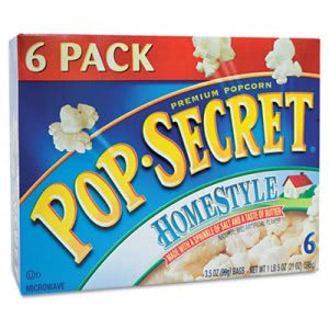 Pop Secret Microwave Popcorn, Homestyle, 3.5 oz Bags, 6 Bags/Box (DFD24696)