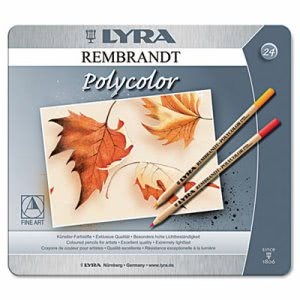 Lyra Artist Colored Woodcase Pencils, Assorted, 24 per Pack (DIX2001240)