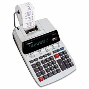 Canon 2-Color Printing Calculator, 12-Digit Fluorescent, Black/Red (CNMP170DH)