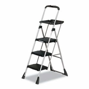 Cosco MaxTM Work Platform Project Ladder, 225lb Duty Rating, Steel, Black (CSC11880PBLW1)