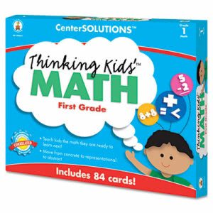 Carson-dellosa Publishing Thinking Kids Math Cards, Grade 1 Level (CDP140077)