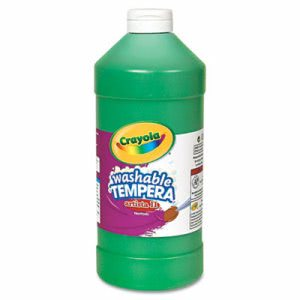Crayola Artista II Washable Tempera Paint, Green, 32 oz (CYO543132044)