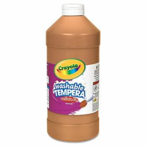 Crayola Artista II Washable Tempera Paint, Brown, 32 oz (CYO543132007)