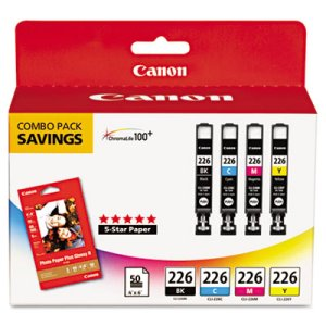 Canon 4546B007AA Ink & Paper Combo, Blk, Cyan, Magenta, Yellow (CNM4546B007AA)