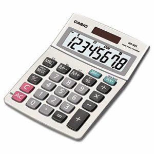 Casio MS-80S Tax and Currency Calculator, 8-Digit LCD (CSOMS80S)