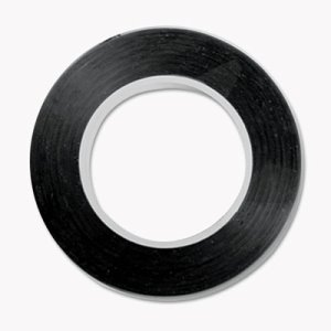 "Cosco Art Tape, Black Gloss Finish, 1/8"" x 324"", Each (COS098077)"