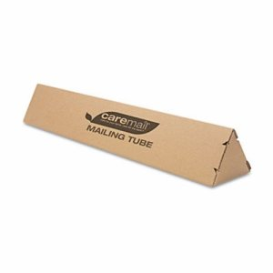 Caremail Triangular Mailing Tube, 6 x 6 x 36, Brown, 12/Pack (CML1407103)
