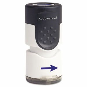 Accustamp Pre-Inked Arrow Round Stamp with Microban, Blue (COS035654)