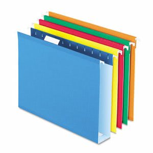 "Pendaflex 2"" Capacity Hanging Folders, Assorted, 25 per Box (PFX4152X2ASST)"