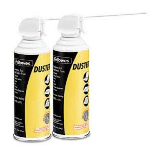 Fellowes Air Duster, 152A Liquefied Gas, 10oz Can, Two Per Pack (FEL9963201)