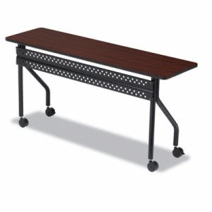 "Iceberg OfficeWorks Mobile Training Table, 72""W, Mahogany/Black, Each (ICE68068)"
