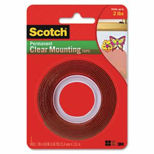 Scotch Double-Sided Mounting Tape, Industrial Strength (MMM4010)