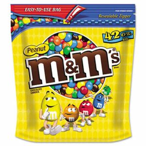 M & M's Milk Chocolate Coated Candy with Peanut Center, 42-oz. Bag (MNM32437)