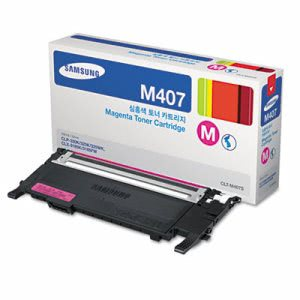Samsung CLTM407S (CLT-M407S) Toner, 1,000 Page-Yield, Magenta (SASCLTM407S)
