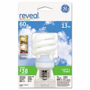 Ge Energy Smart Compact Fluorescent Light Bulb, Spiral, 13 Watts (GEL75406)