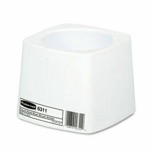 "Rubbermaid 6311 Toilet Bowl Brush Holder for 14.5"" Brush, White (RCP631100)"