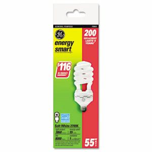 Ge Energy Smart Compact Fluorescent Spiral Light Bulb, 55 Watts (GEL78965)
