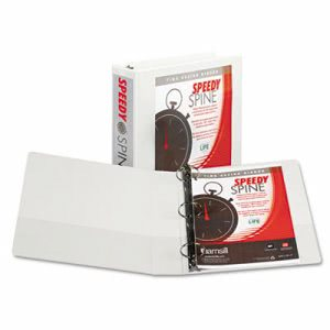 "Samsill Speedy Spine Round Ring View 2"" Binder, 11 x 8-1/2, White (SAM18167C)"