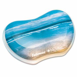 "Fellowes Gel Wrist Rest, Photo, 4 9/10"" x 3 4/10"", Sandy Beach (FEL9179501)"