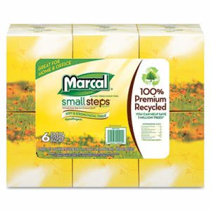 Marcal PRO Recycled Facial Tissue in Fluff Out Box, 36 Cube Boxes (MAC 4034-36)