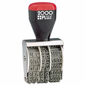 "Cosco 2000 PLUS Traditional Date Stamp, Six Years, 1 3/8 x 3/16"" (COS012731)"