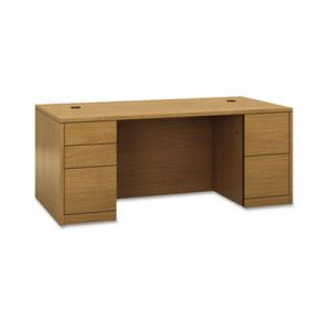 Hon 10500 Series Double Pedestal Desk, Full-Height Pedestals, 72w x 36d, Harvest (HON105890CC)