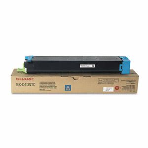 Sharp MXC40NTC Toner Cartridge, 10,000 Page-Yield, Cyan (SHRMXC40NTC)
