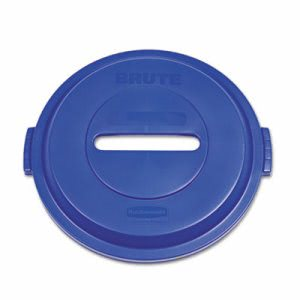 Rubbermaid 1788378 Brute 32 Gallon Paper Recycling Lid, Blue (RCP 1788378)