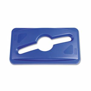 Rubbermaid 1788372 Slim Jim Single Stream Recycling Top, Blue (RCP1788372)