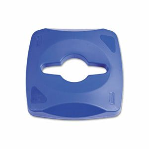 Rubbermaid Untouchable Single Stream Recycling Top, Blue (RCP1788374)