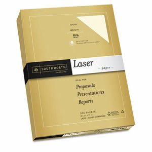 Southworth 25% Cotton Premium Laser Paper, White 97, 300 Sheets (SOU348C)