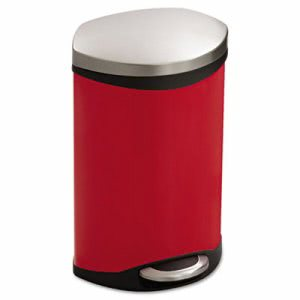 Safco Step-On Medical Receptacle, 3 gal, Red (SAF9901RD)