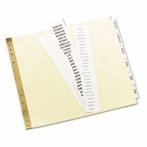 Avery Gold Line Data Binder Insertable Tab Index, 6-Tab, 9-1/2 x 11, Buff, 6/Set (AVE11730)