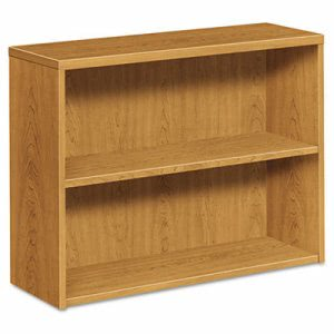Hon 10500 Bookcase, 2 Shelves, 36w x 13-1/8d x 29-5/8h, Harvest (HON105532CC)