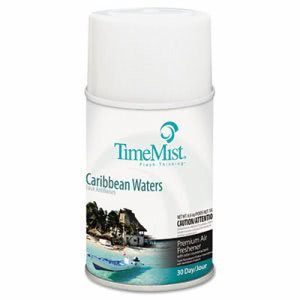 TimeMist Metered Air Fresheners Caribbean Waters 12 per Case (TMS 33-5324TMCAPT)